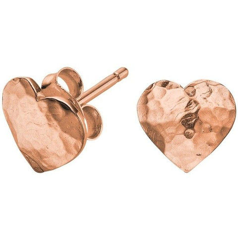 Dower and Hall Hammered Heart Earrings
