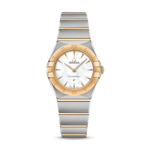 Omega constellation two tone ladies watch