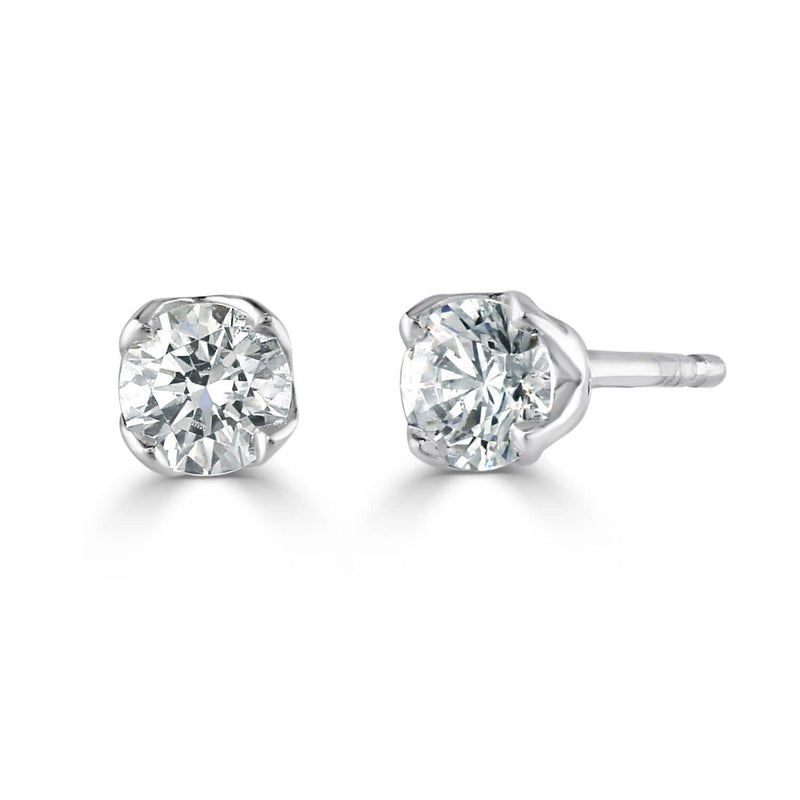 Brown & Newirth Earrings Brown & Newirth Evelyn Earrings with 0.15CT Diamonds| 18CT White Gold Claw