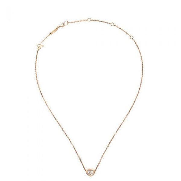 Chopard Necklace Chopard Happy Diamond Pendant Rose Gold 45 CM Necklace 81A054-5001