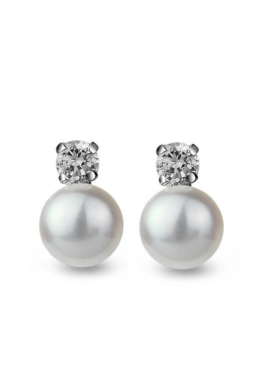 Emson Haig Earrings Emson Haig Pearl Stud Earrings EP-58A