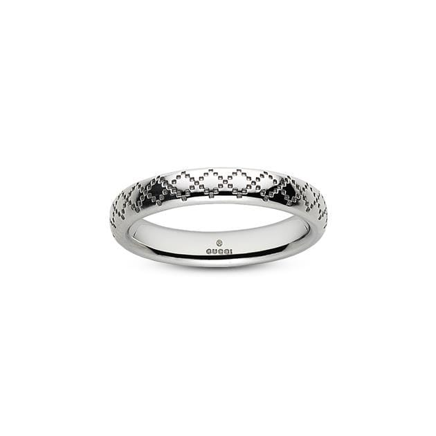 Gucci Ring Gucci Diamantissima 18CT White Gold Ring