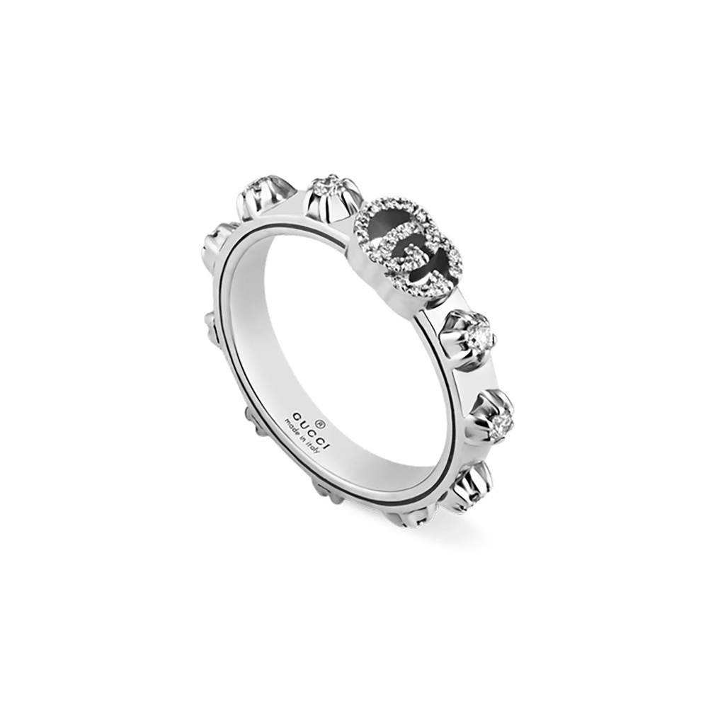 Gucci Ring Gucci GG running 18ct white gold round diamond ring YBC554303001