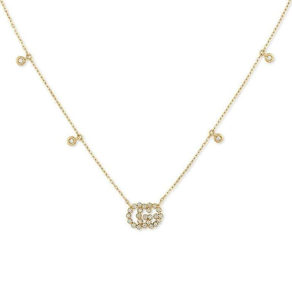 Gucci Necklace Gucci GG running 18ct yellow gold diamond necklace YBB48162400100U