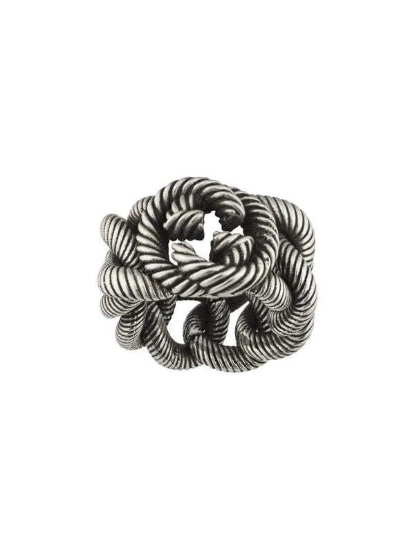 Gucci Ring Gucci Groumette Interlocking G Silver Ring