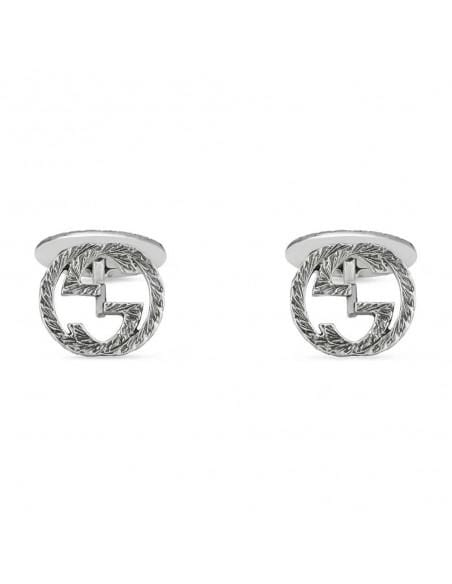 Gucci Cufflinks Gucci interlocking G silver textured cufflinks YBE45530500100U