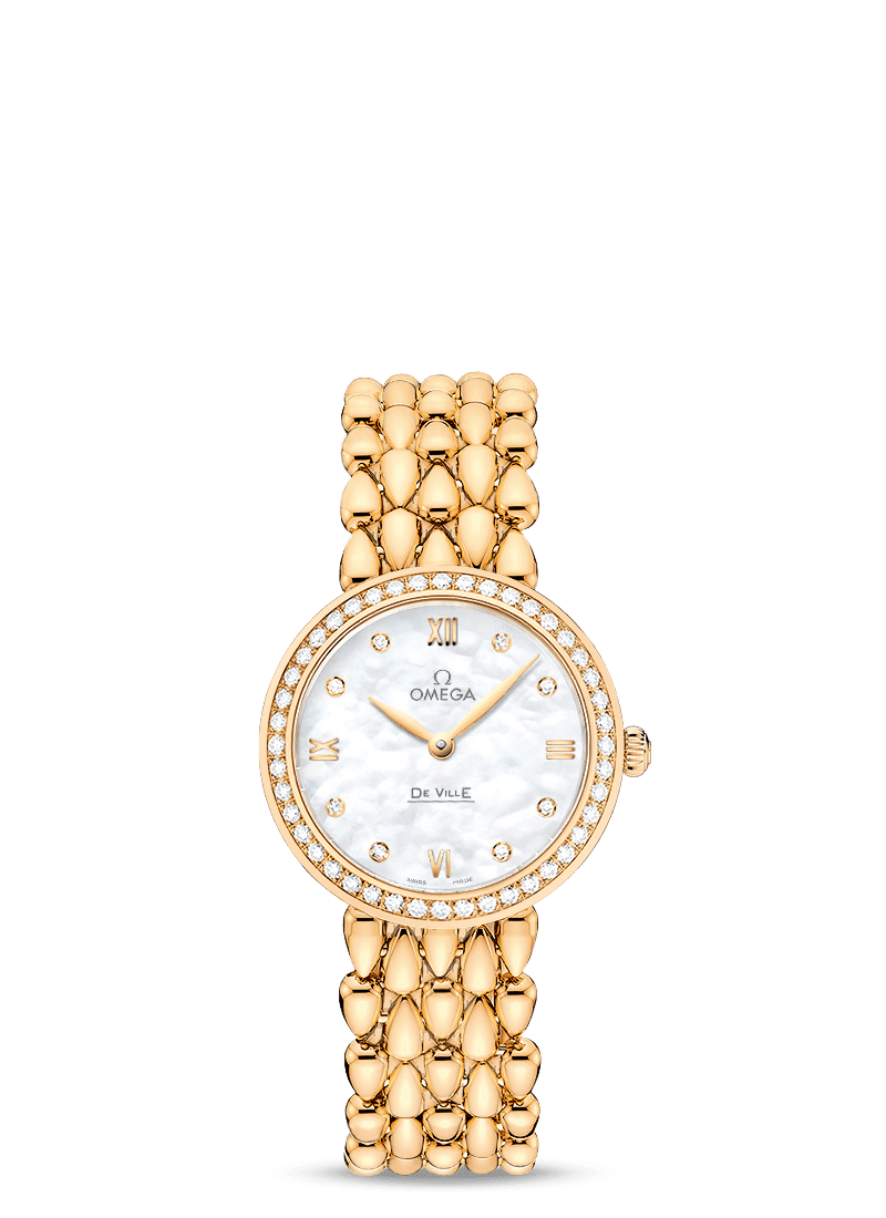 OMEGA Watch OMEGA De Ville Prestige 18ct Gold Diamond Ladies Watch O424.55.27.60.55.006
