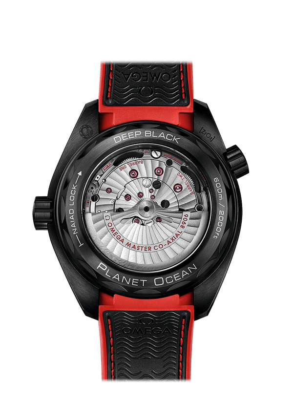 OMEGA Watch OMEGA Deep Black Seamaster Planet Ocean 600M CO-AXIAL Master Chronometer GMT 45.5 MM Red Watch O215.92.46.22.01.003