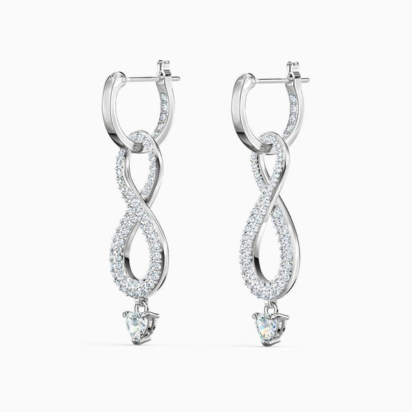 Swarovski Earrings Swarovski Infinity Pierced Earrings White Rhodium plated 5520578