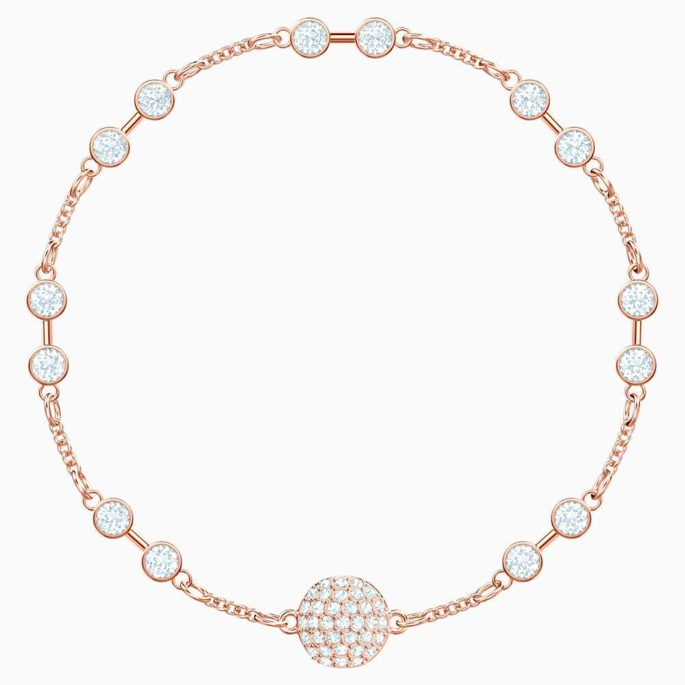 Swarovski Bracelet Swarovski Remix Collection Carrier White Rose-gold tone plated 5451032