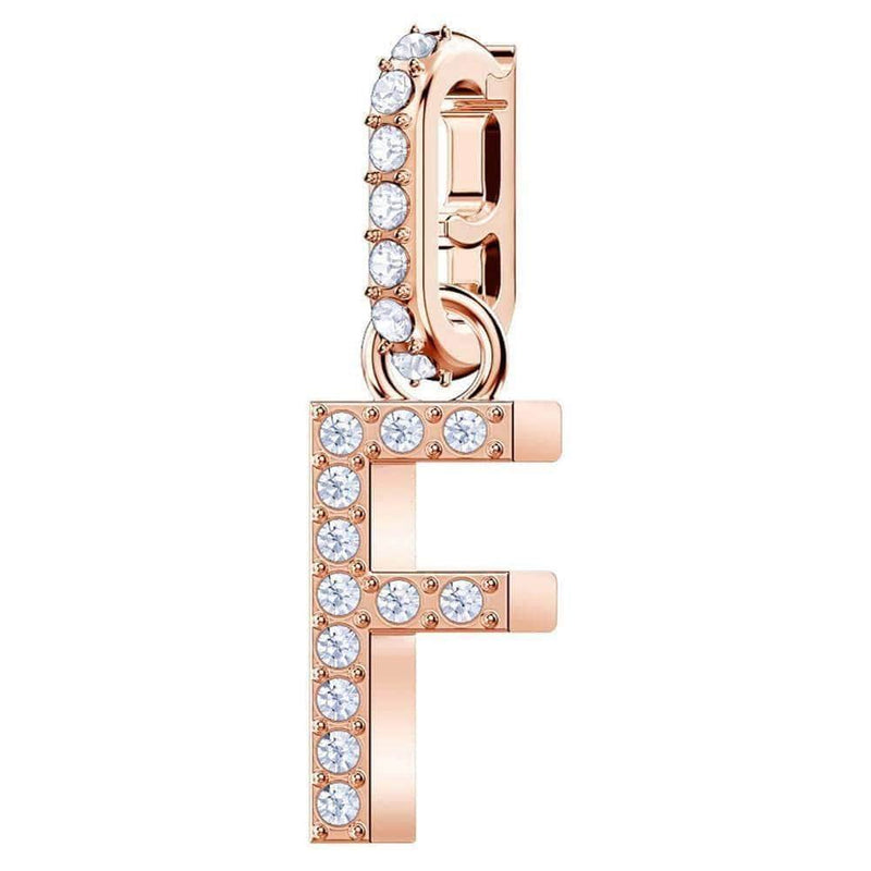Swarovski Charm Swarovski Remix Collection Charm F White Rose-gold tone plated 5437616
