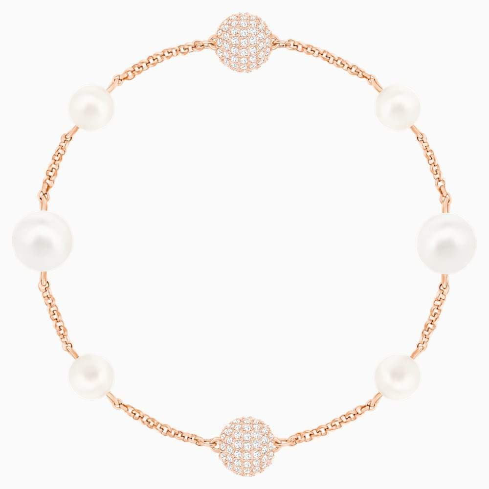 Swarovski Bracelet Swarovski Remix Collection Round Pearl Strand White Rose-gold 5365738
