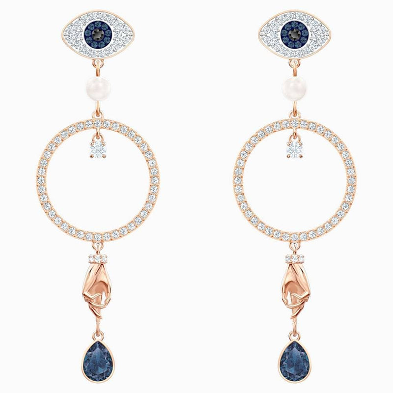 Swarovski Earrings Swarovski Symbolic Hoop Pierced Earrings Multi-coloured Rose-gold 5500642