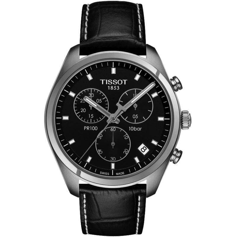 Tissot Watch Tissot PR100 Watch Black Chrono with Black Strap