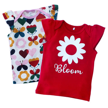 T-Shirts (Set of 2) - Bloom - kadambaby.com