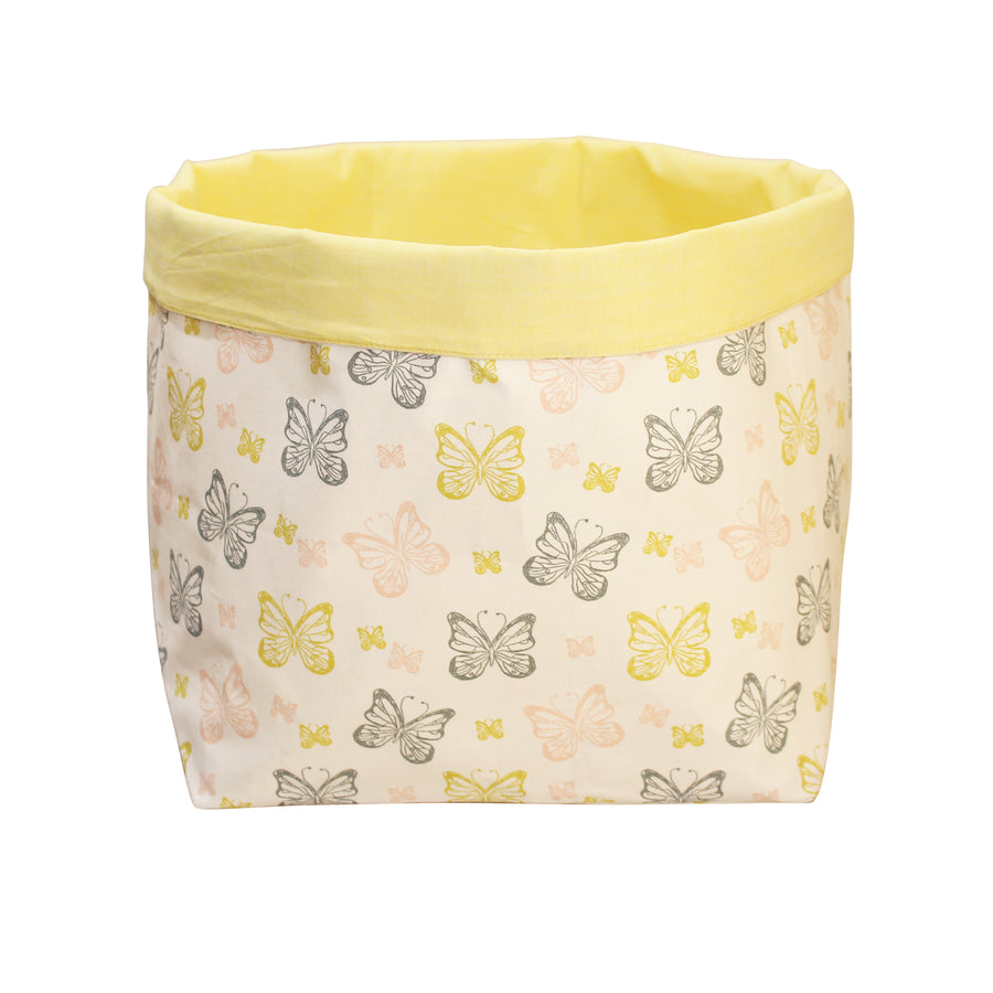 Fabric Toy Storage Bin- Little butterflies - kadambaby.com