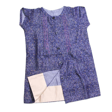 Baby Girl Dress- Blue Denim - kadambaby.com