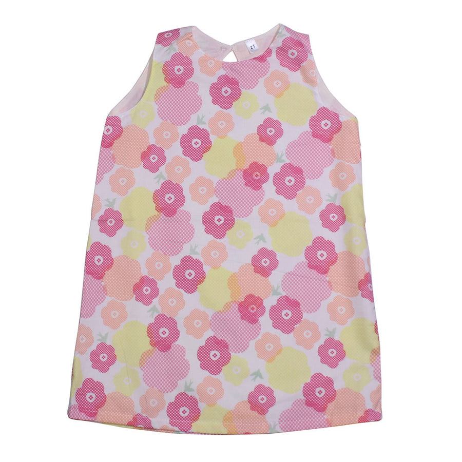 Baby Girl Summer Dress - Pink Flowery - kadambaby.com