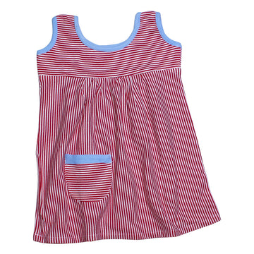 Baby Girl Dress - Red Stripe - kadambaby.com