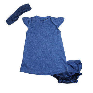 Baby Girl Dress - Blue - kadambaby.com