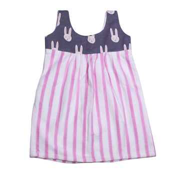 Baby Girl Summer Dress - Pink Stripe - kadambaby.com