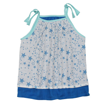Baby Girl Muslin Summer Dress - Star - kadambaby.com