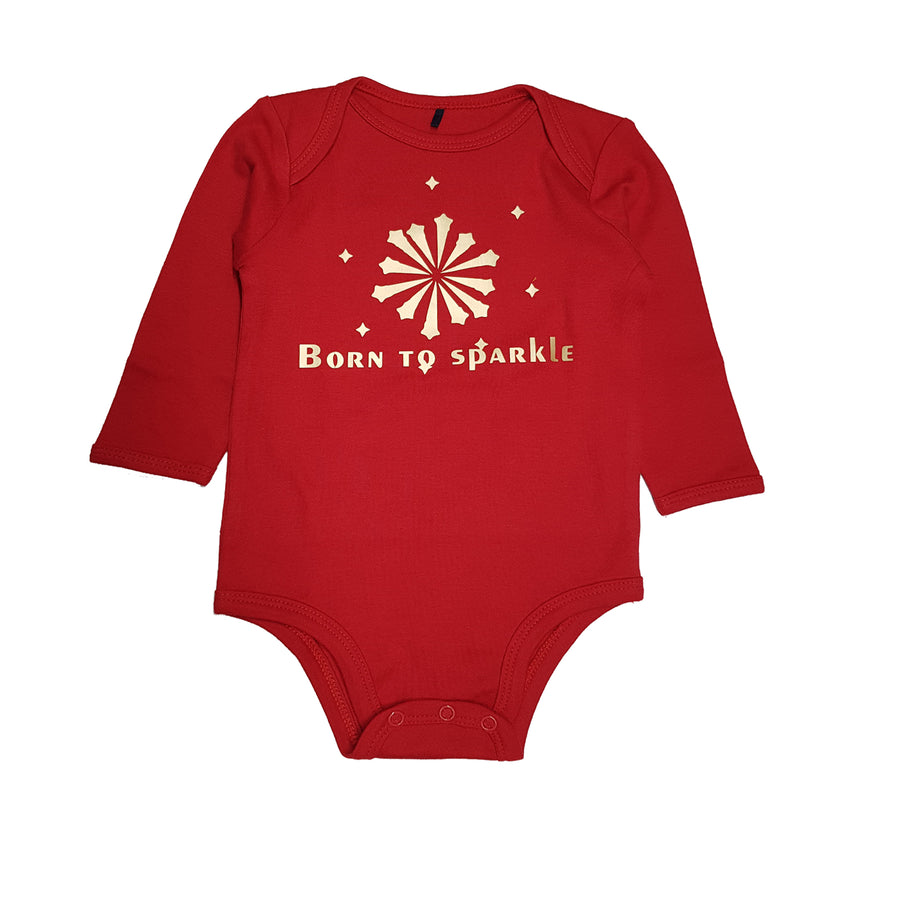 Born to sparkle Onesie bib set-Kadambaby.com