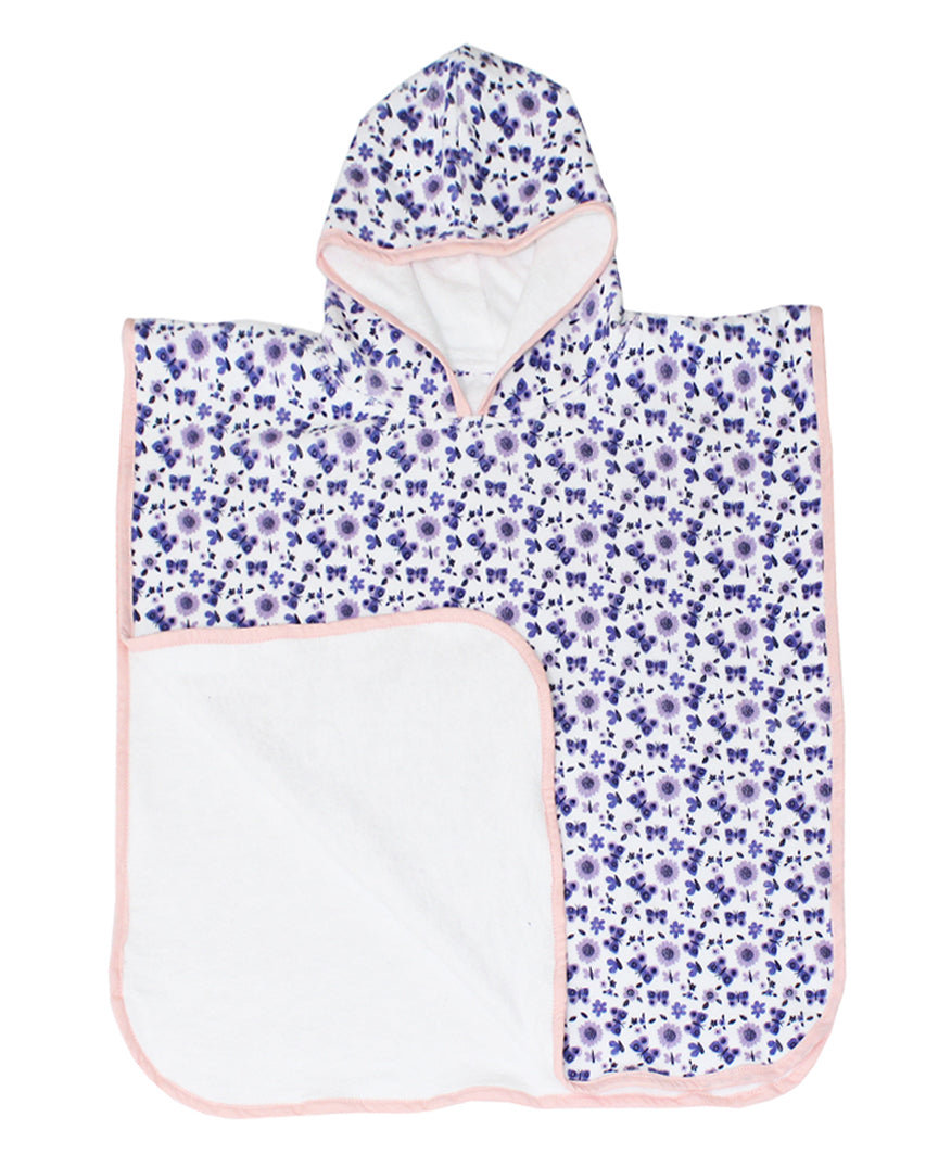 Personalised Bath Poncho/Beach cover for swim & beach - Floral - kadambaby.com