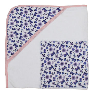 Hooded Bath Towel for baby - Floral - kadambaby.com