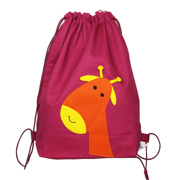 Drawstring Bag for kids- Giraffe - kadambaby.com
