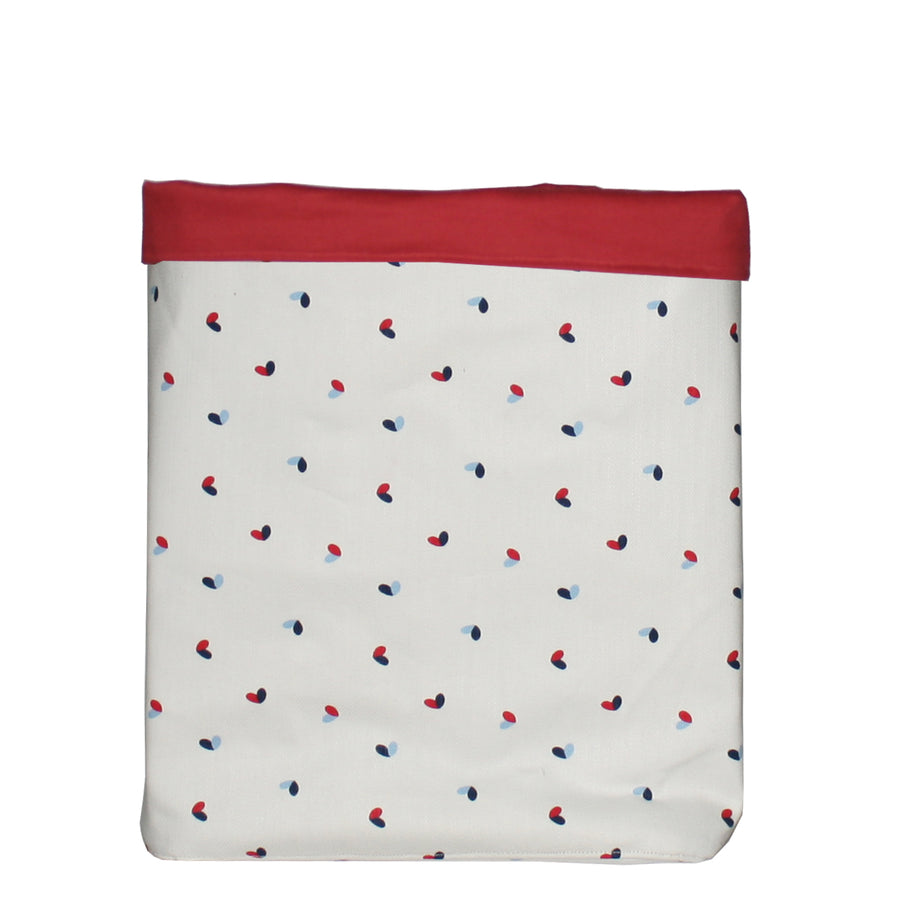 Fabric Toy Storage Bin- Little Hearts - kadambaby.com