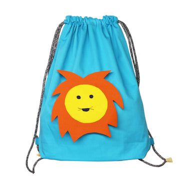Drawstring Bag for kids- Lion - kadambaby.com