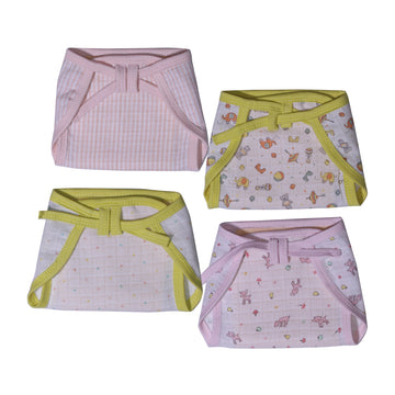 Muslin Cloth Diaper - Set of 4 - kadambaby.com