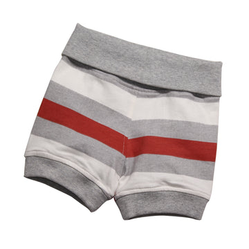 Baby Boy Bubble Shorts -Orange Stripe - kadambaby.com