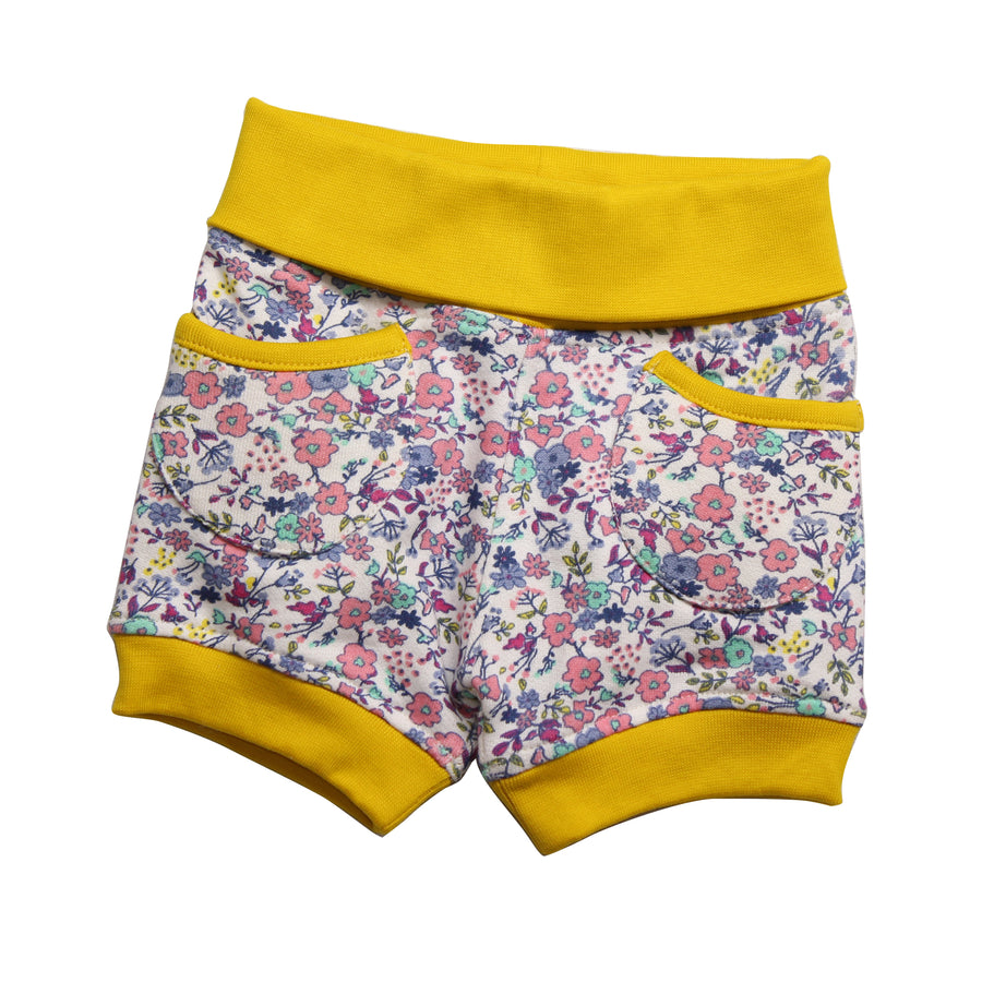 Baby Girl  Bubble Shorts - Yellow - kadambaby.com
