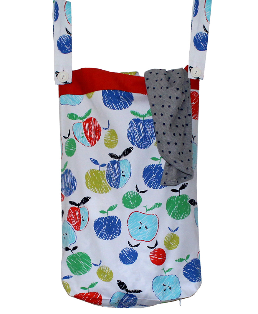 Laundry Bag for Kids, Door-Hanging Laundry Hamper, Small Size Kids Laundry Bag. Fruity - kadambaby.com
