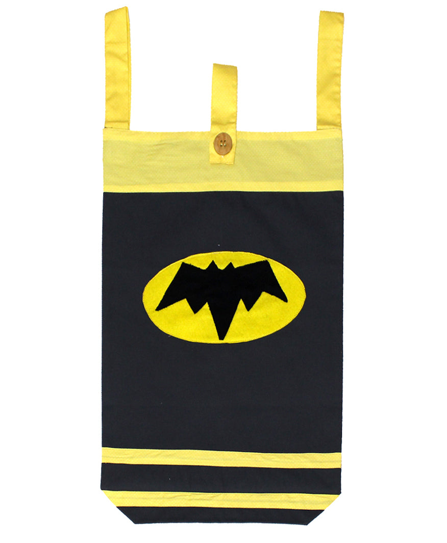 Laundry Bag for Kids, Door-Hanging Laundry Hamper, Small Size Kids Laundry Bag. Black - kadambaby.com
