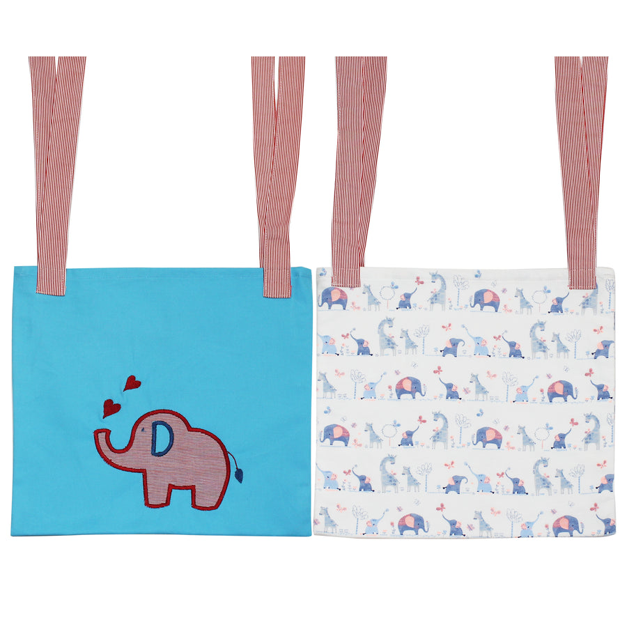 Set of 2 Crib/Bed Storage Pocket - Elephant - kadambaby.com