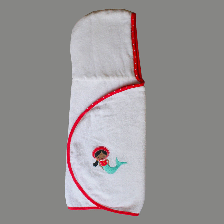 Personalised Hooded Bath Towel Wrap for baby - Pink - kadambaby.com