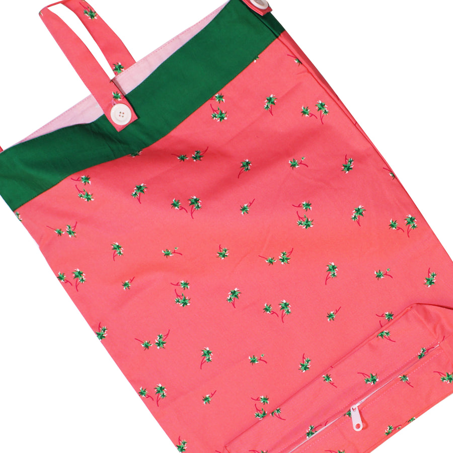 Laundry Bag for Kids, Door-Hanging Laundry Hamper, Small Size Kids Laundry Bag. Floral Pink - kadambaby.com