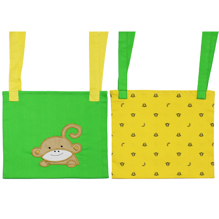 Set of 2 Crib/Bed Storage Pocket - Monkey - kadambaby.com