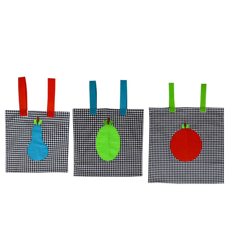 Set of 3 Crib/Bed Storage Pocket - Fruit - kadambaby.com