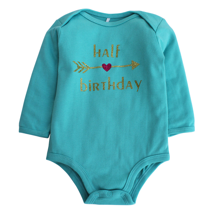 Kadambaby: Personalised 1/2 Birthday Onesie | Birthday Onesie for Newborn Baby