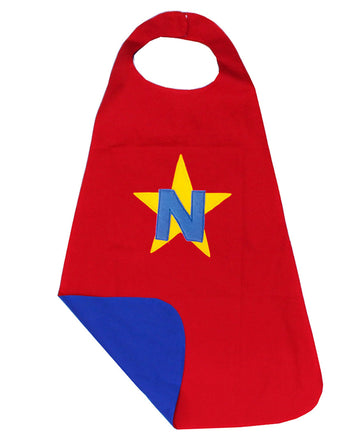 Kids Personalised Superhero Cape - Red/Blue - kadambaby.com