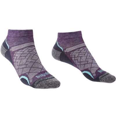 Bridgedale - Hike Ultralight T2 Coolmax Performance Low W - Purple/Grey