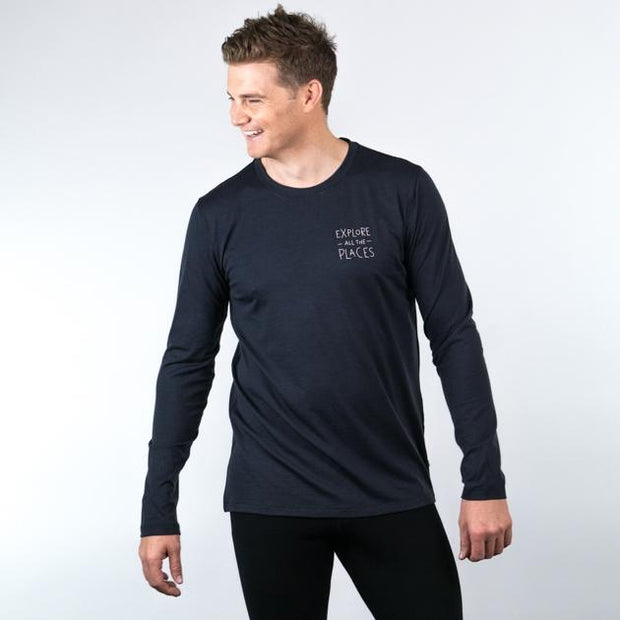 ioMerino - Universal Long Sleeve - Mns - Explore All The Places