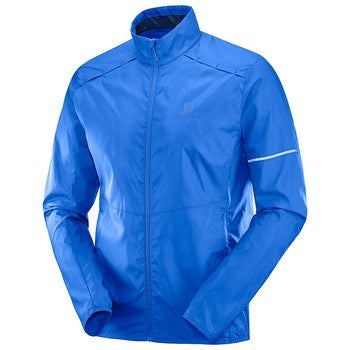 Salomon - Agile Wind Jacket - M - Nautical Blue