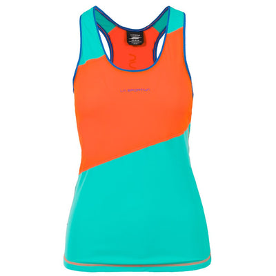 Women's Drift Tank - Lily Orange/Aqua