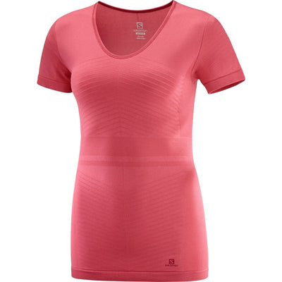 Salomon - Elevate Move'on Ss Tee Wms Garnet Rose