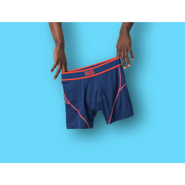 Saxx - Kinetic / Midnight Blue~Orange / Boxer Brief